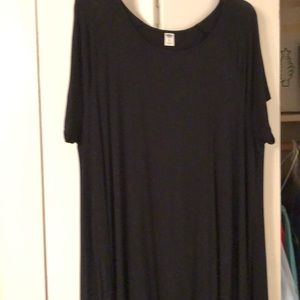 Black old navy t-shirt dress
